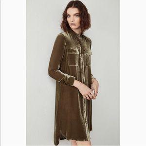aadea361b7 BCBGMaxAzria Tops - BCBG Abee velvet shirt dress